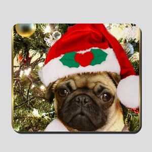 Christmas Pug Dog Mousepad