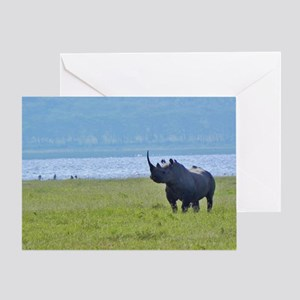 nakuru black rhino kenya collection Greeting Card