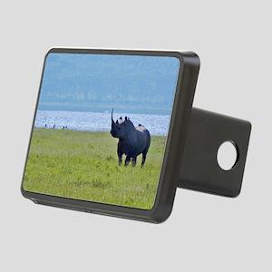 nakuru black rhino kenya c Rectangular Hitch Cover