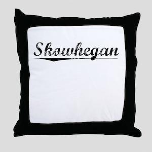 Skowhegan, Vintage Throw Pillow