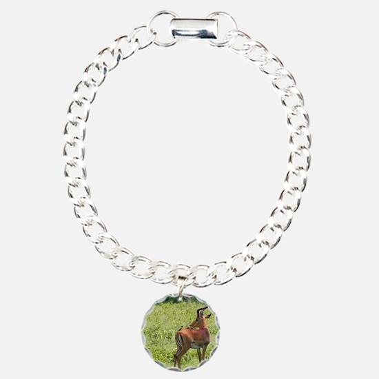 impala buck with oxpecke Bracelet