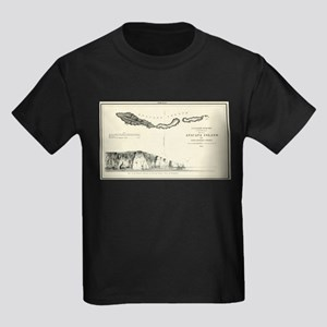 Anacapa Island - T H Stevens- 1854 Kids Dark T-Shi