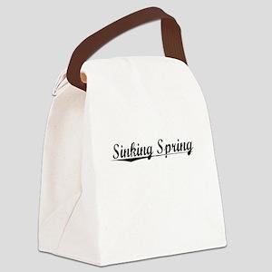 Sinking Spring, Vintage Canvas Lunch Bag