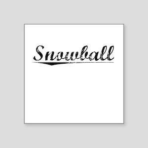 "Snowball, Vintage Square Sticker 3"" x 3"""