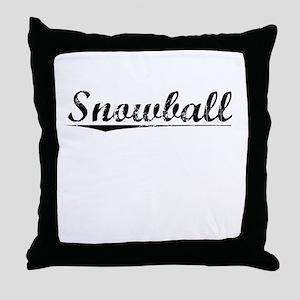 Snowball, Vintage Throw Pillow