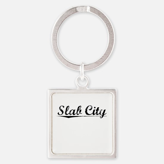 Slab City, Vintage Square Keychain