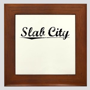 Slab City, Vintage Framed Tile