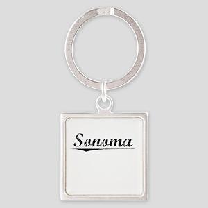 Sonoma, Vintage Square Keychain