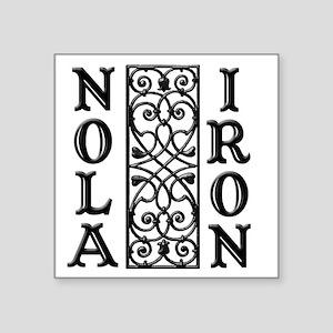 "NOLA IRON 1 Square Sticker 3"" x 3"""
