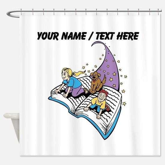 Custom Magical Book Shower Curtain
