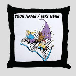 Custom Magical Book Throw Pillow