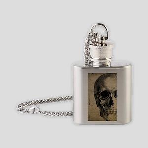Vintage Skull Flask Necklace
