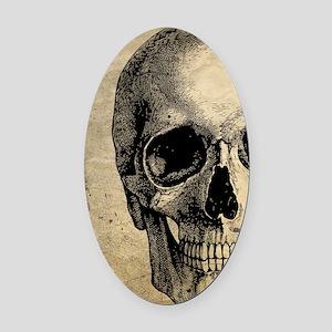 Vintage Skull Oval Car Magnet