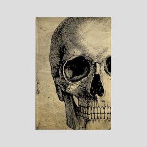 Vintage Skull Rectangle Magnet