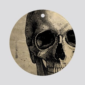 Vintage Skull Round Ornament