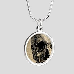 Vintage Skull Silver Round Necklace
