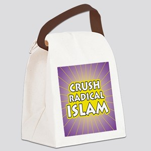 Crush Radical Islam Canvas Lunch Bag