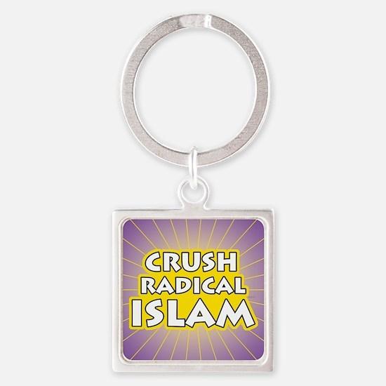 Crush Radical Islam Square Keychain