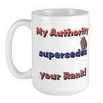 Air Force Wife Authority Large Mug
