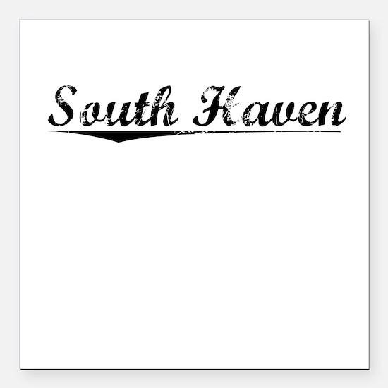 """South Haven, Vintage Square Car Magnet 3"""" x 3"""""""