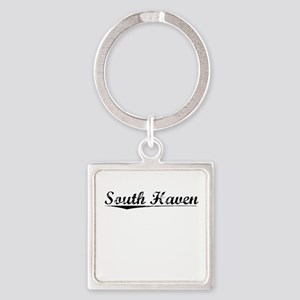 South Haven, Vintage Square Keychain