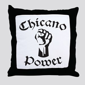 Chicano Power Throw Pillow