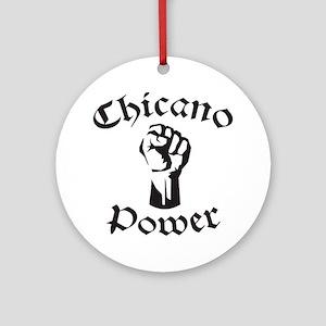 Chicano Power Round Ornament