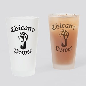 Chicano Power Drinking Glass