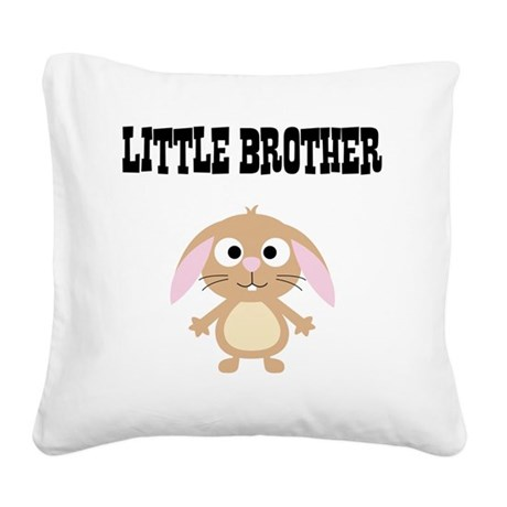 Little Brother Rabbit Square Canvas Pillow