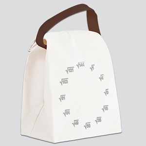 Square Root Wallclock Canvas Lunch Bag