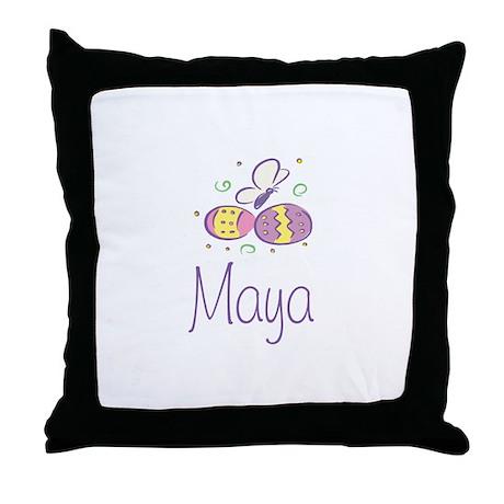 Easter Eggs - Maya Throw Pillow