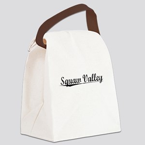 Squaw Valley, Vintage Canvas Lunch Bag
