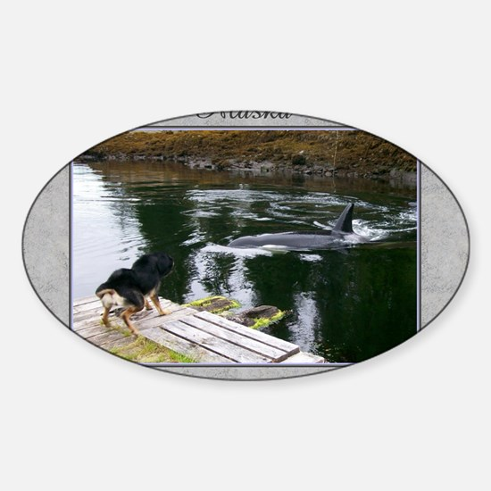 Doobie and the whale Sticker (Oval)