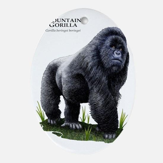 Mountain Gorilla Oval Ornament
