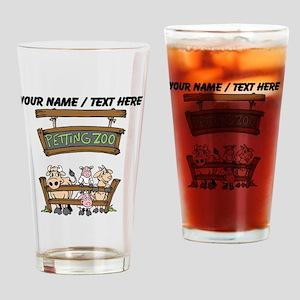 Custom Petting Zoo Drinking Glass
