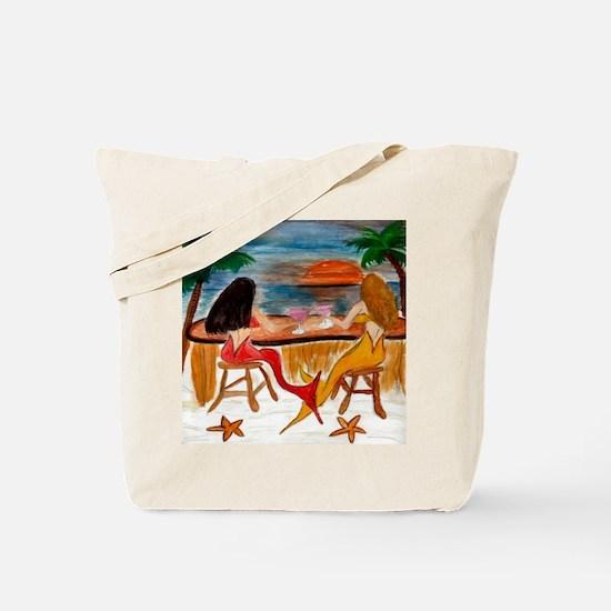 Martini Mermaids art Tote Bag