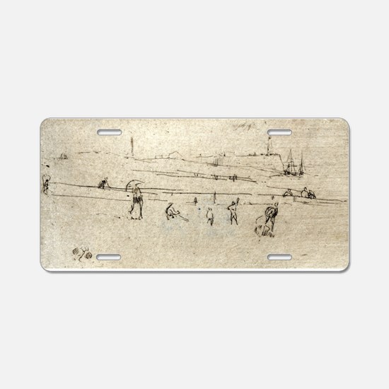 A sketch at Dieppe - Whistler - c1880 Aluminum Lic