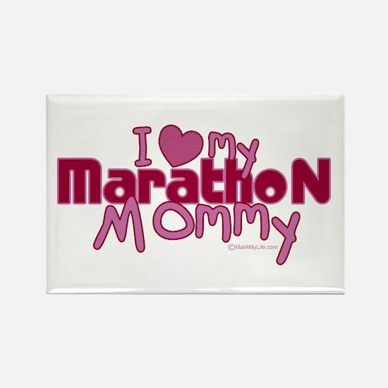 I Love My Marathon Mommy Rectangle Magnet