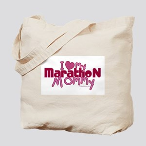 I Love My Marathon Mommy Tote Bag