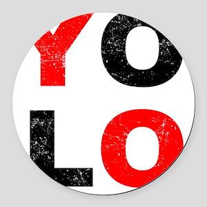 YOLO Round Car Magnet