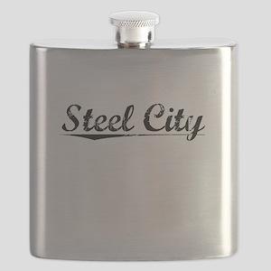 Steel City, Vintage Flask