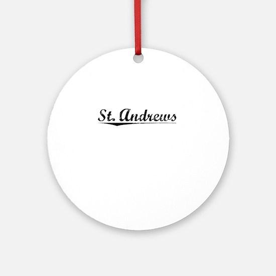 St. Andrews, Vintage Round Ornament