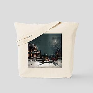 Vintage Christmas Eve Tote Bag