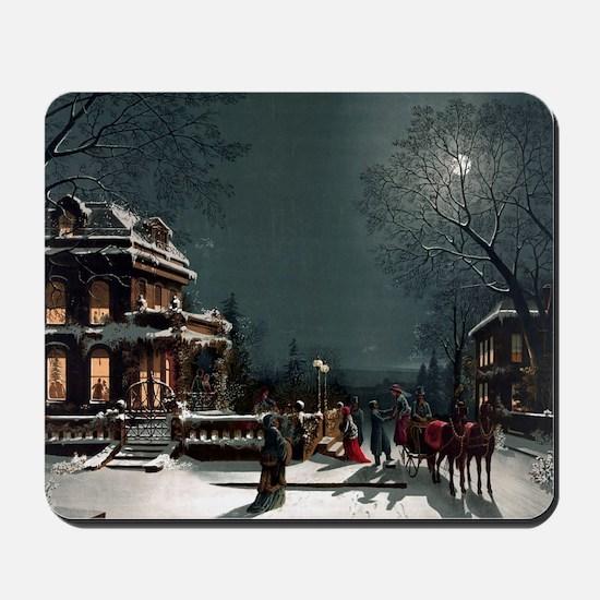 Vintage Christmas Eve Mousepad