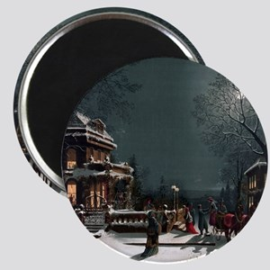 Vintage Christmas Eve Magnet