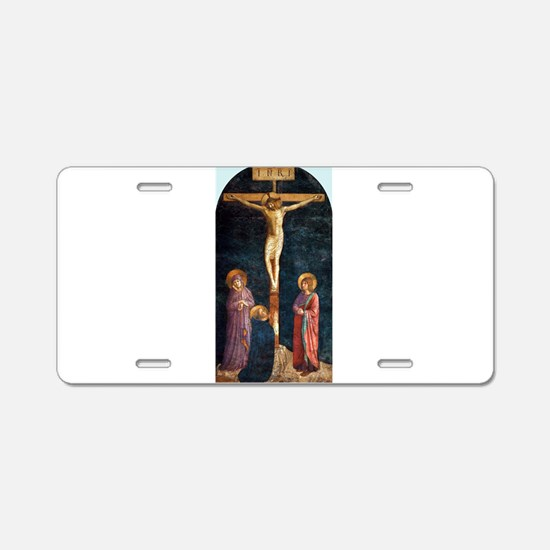 Crucifixion with St Dominic - Fra Angelico Aluminu