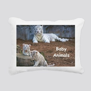Baby Animals Rectangular Canvas Pillow