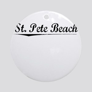 St. Pete Beach, Vintage Round Ornament