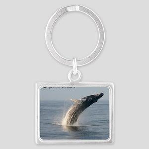 Humpback Whales Landscape Keychain