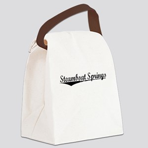Steamboat Springs, Vintage Canvas Lunch Bag